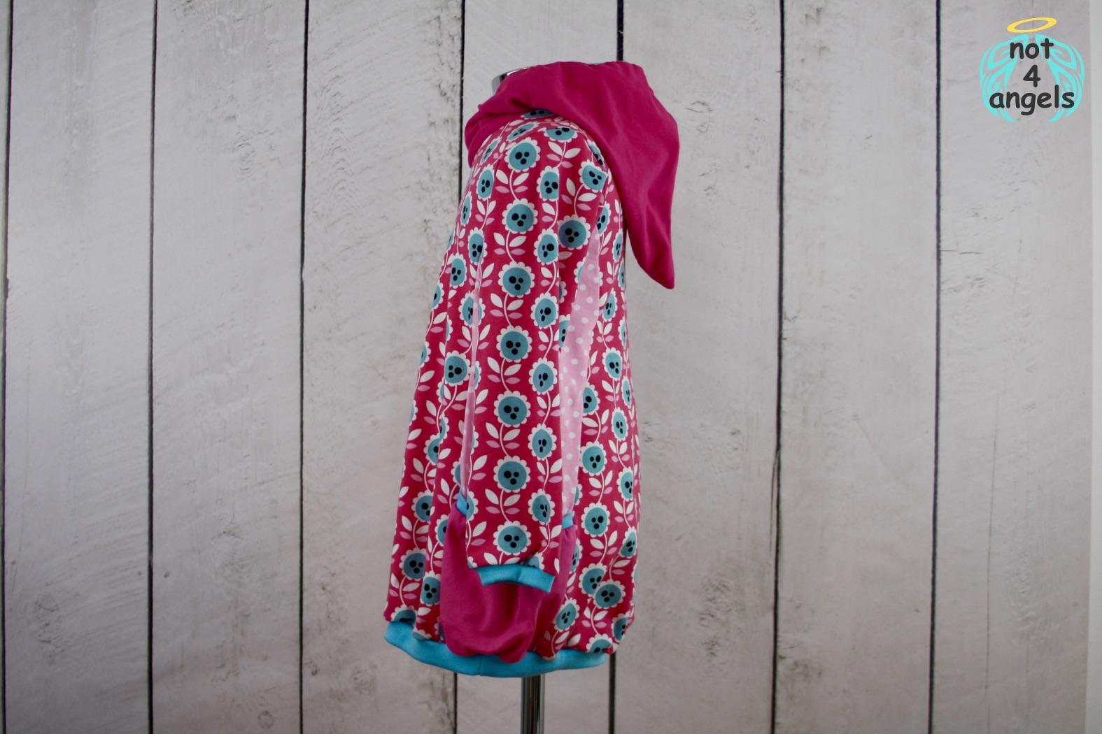not4angels selbstgemachte mode kaputzen kleid blumen pink gr 110. Black Bedroom Furniture Sets. Home Design Ideas